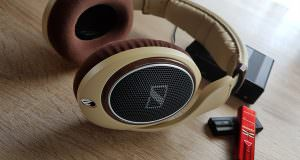 Sennheiser HD598 accompanied by two DragonFly's