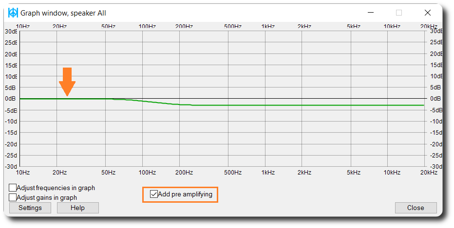 Equalizer APO Graph Enable Pre Amp