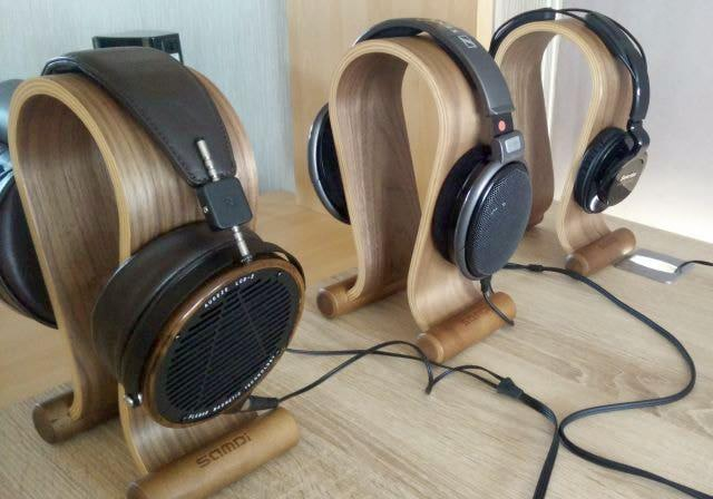 samdi walnut wooden headphone stands