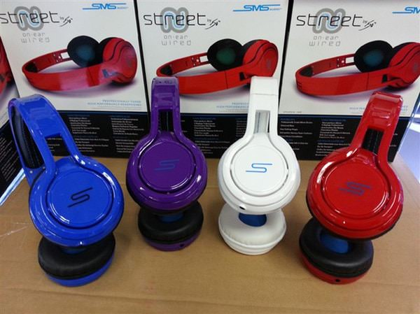 sms audio street by 50 cent wired on ear headphones colors
