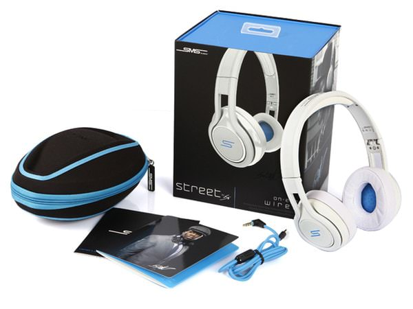 sms audio street by 50 cent wired on ear headphones package
