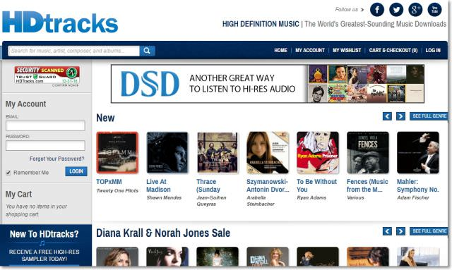 hdtracks quality music download site