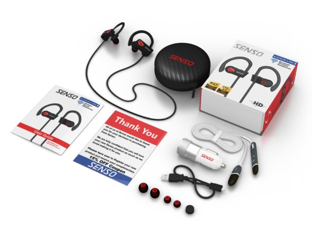 Lots of goodies with the ActivBuds S-250