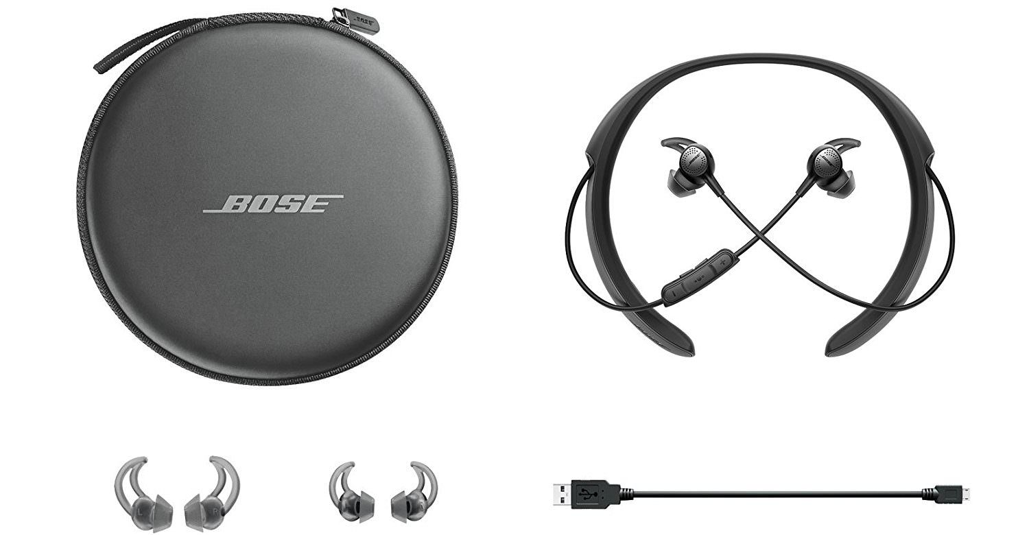 Bose QC30 Box and Extras