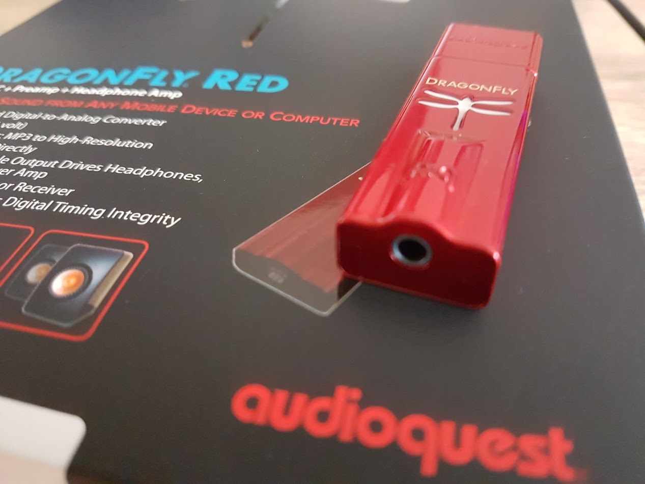 Audioquest Dragonfly Red on Package
