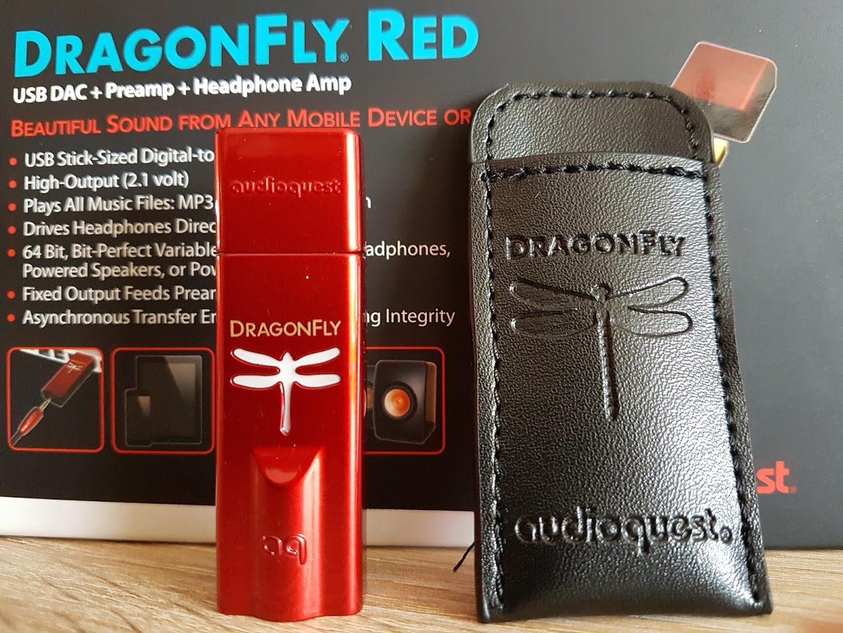 DragonFly Red leatherette pouch