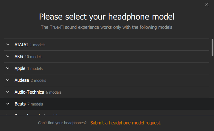 Sonarworks Choose A Supported Headphone