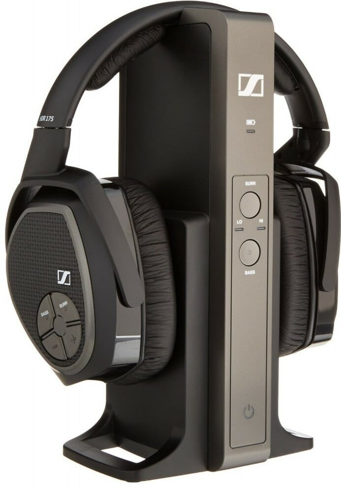 Sennheiser RS 175 Headphones on Docking