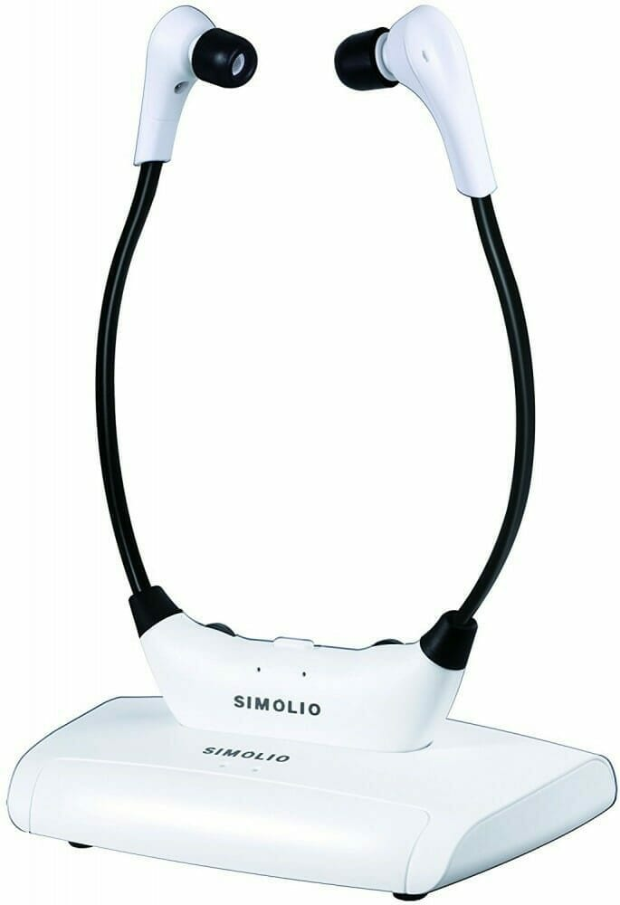 Simolio SM823 White Headphones on Docking